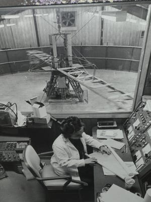 This 50 foot centrifuge was used for early studies on gravity and space travel at the Werner Gren Laboratory at the University of Kentucky in the 1970s.