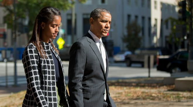 President Obama and daughter Malia