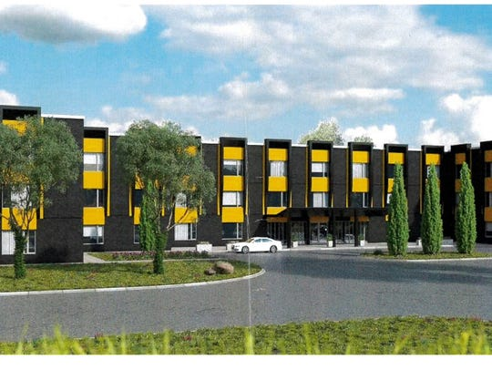 A rendering for a senior living facility that may occupy