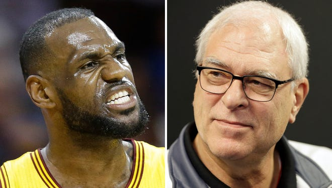 """LeBron James says he has lost respect for Phil Jackson after the famed NBA coach used the word """"posse"""" to describe the Cleveland star's business partners. James responded harshly on Nov. 15 to Jackson's use of the term in a recent interview. (AP File Photos/File)"""