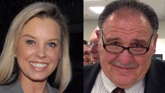Reno mayoral candidates Hillary Schieve and Ray Pezonella