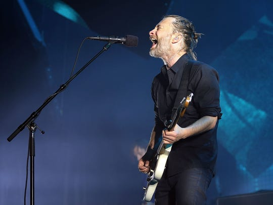 Thom Yorke of Radiohead performs live on stage at Sydney