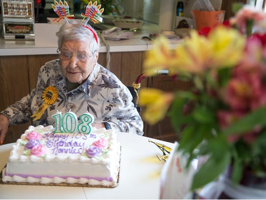 Toms River resident Nancy Manno celebrates her 108th