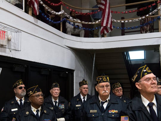 The American Legion Honor Guard takes in the closing
