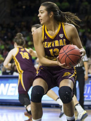 Reyna Frost had 39 points and 13 rebounds in Central Michigan's win over Northern Illinois Saturday.
