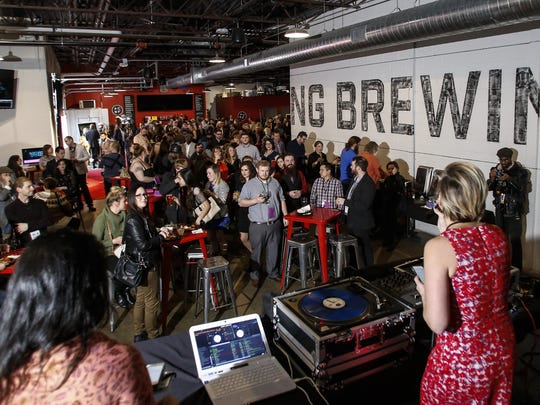 Hundreds gathered Thursday, April 6, 2017, for the 7th Annual Capital City Film Festival Red Carpet Premiere Party at Lansing Brewing Company.