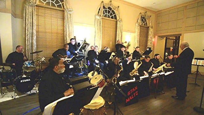 Stan Maltz leads his orchestra during a performance earlier this year at the Madison in Riverside.