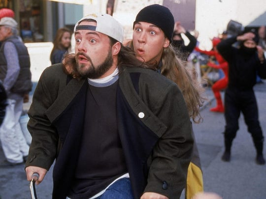 "Kevin Smith (Silent Bob) left, and Jason Mewes (Jay) appear in ""Jay and Silent Bob Strike Back."" Mewes will be appearing at the upcoming Wizard World Las Vegas."