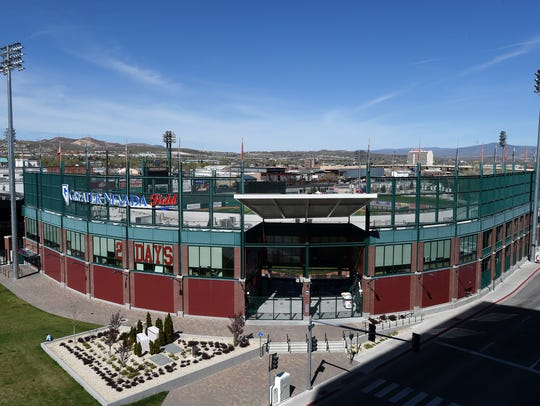 Greater Nevada Field on April 5, 2016. Aces opening