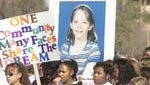 Supporters for Mikelle Biggs appeared during an event in downtown Mesa, Arizona in 1999.