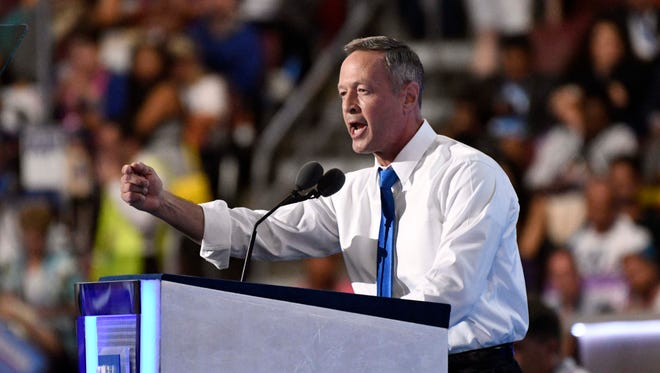 Former governor of Maryland, Martin O'Malley.