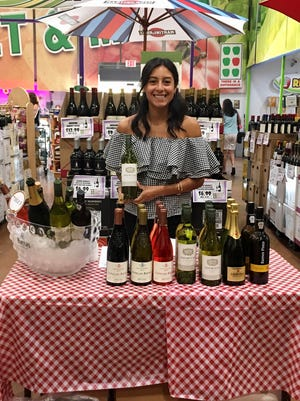 Veronica Almanza, a supplier for Maisons Marques & Domaines, brought samples of her brands' portfolio to a recent Downtown Produce wine tasting.