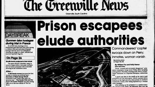 Page 1A from The Greenville News' print edition on Friday, December 20, 1985.