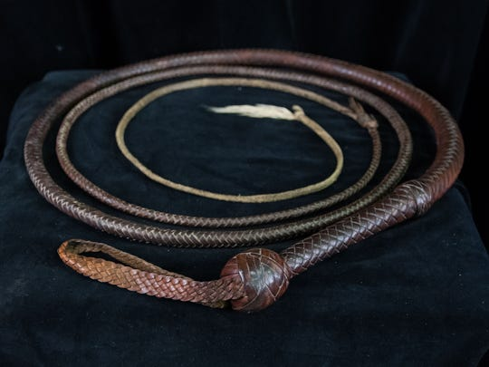 Indiana Jones' bullwhip from the movie Indiana Jones and the Last Crusade. The whip will be on display at the Mississippi Museum of Natural Science from Friday until July 30th.
