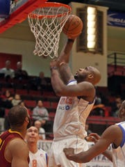 The Westchester Knicks played the Canton Charge in an NBA D-League game at the Westchester County Center in White Plains March 24, 2015.