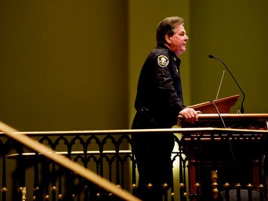 Knox County Sheriff Chief J.J. Jones speaks during