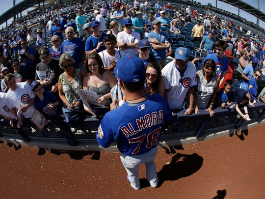 """Albert Almora Jr. considers playing professional baseball as a testament to his family. """"I'm just trying to live up to their name,"""" he said."""
