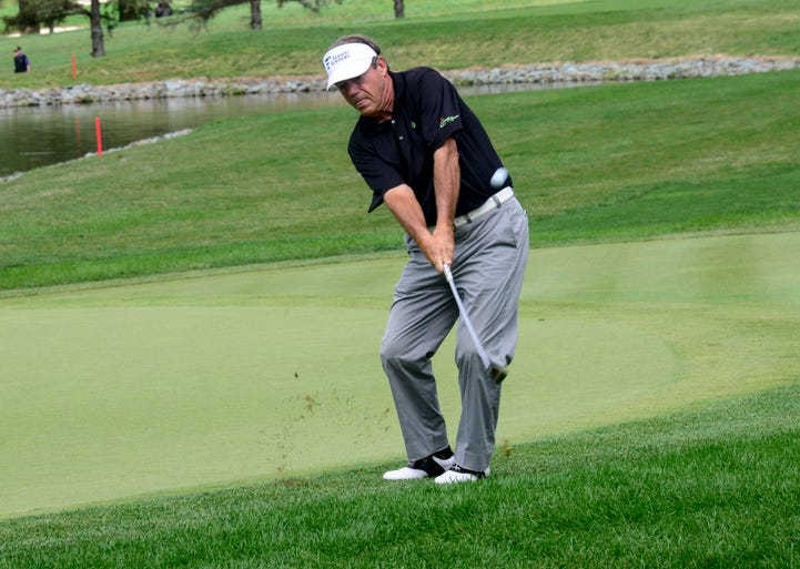 Joey Sindaler plays in the third round of the Dick's Sporting Goods Open on Sunday at En-Joie Golf Course in Endicott.