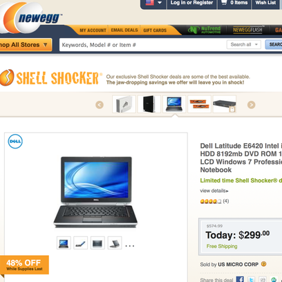Newegg is a great place to search for deals and get