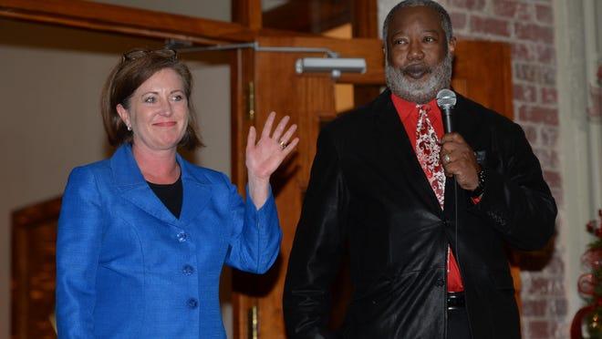 Caddo DA James Stewart introduces prosecutor Laura W. Fulco as Caddo Parish's next first assistant district attorney effective Jan. 1