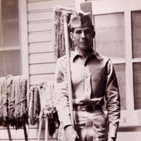 Leonard Nimoy in his Army days in the 1950s, years before he became TV's Mr. Spock.