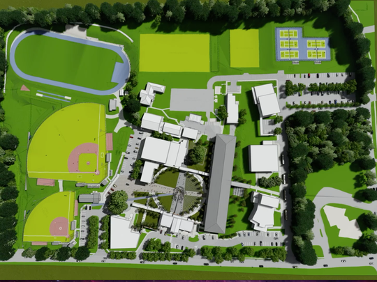 Conceptual rendering of the renovations being completed at Rickards High School over the next two years.