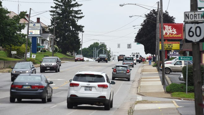 Starting Tuesday, traffic on Maple Avenue between between Sheridan Street and McConnell Avenue will have reduced traffic flow because of water main work. Lanes will be closed in different sections as the work progresses north.