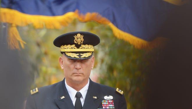 Gen. Raymond Odierno at the New York Veterans Day parade on Nov. 5.
