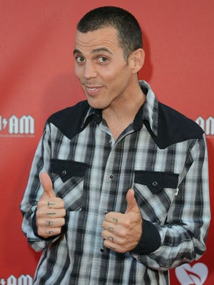 Host Steve-O arrives at the 8th Annual MusiCares MAP Fund Benefit at Club Nokia on May 31, 2012 in Los Angeles, California.