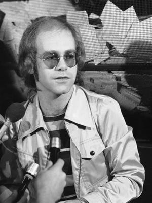Rock singer Elton John is shown in 1970. (AP Photo)