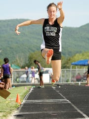 Wilson Memorial's Emilie Miller competes in the triple