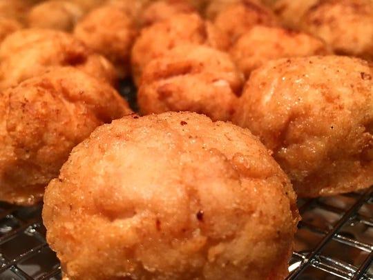 Polpetti de Pollo, or breaded chicken meatballs, are