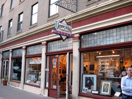 Housed in a 1917 building, the Jerome Artists Cooperative