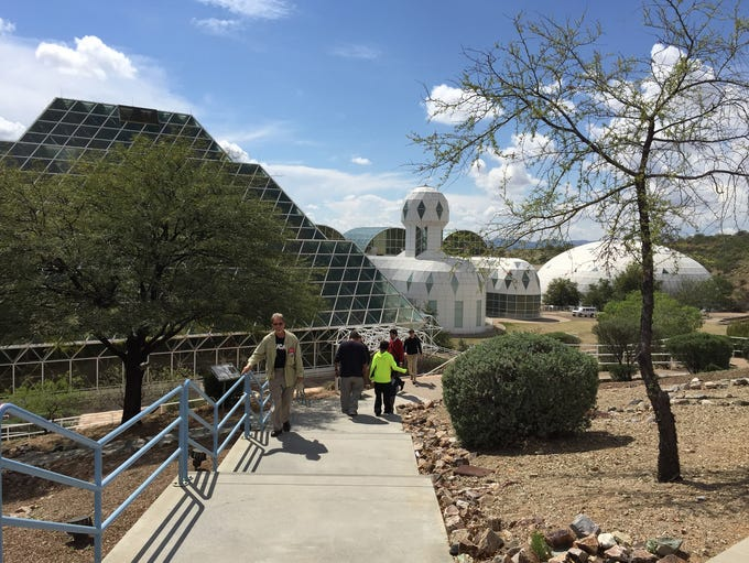 Construction on Biosphere 2 began in 1987; the facility