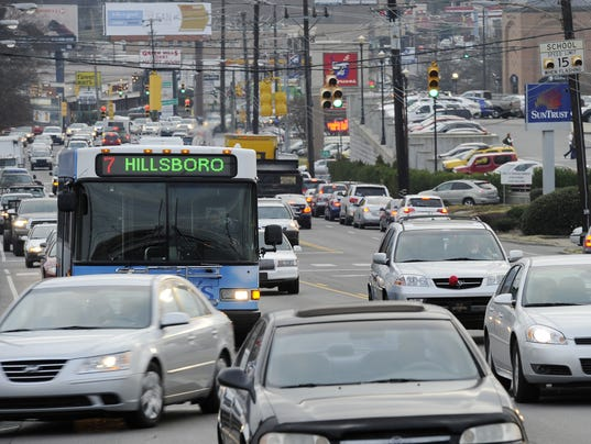 Nashville commute ranked worst