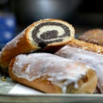 Makowiec, a traditional Polish poppy seed pastry at Polska Chata, a Polish deli and eatery in Irondequoit.