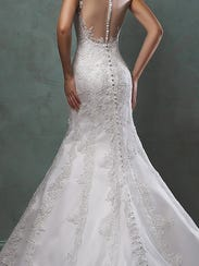 Wedding Dress Illusion Back