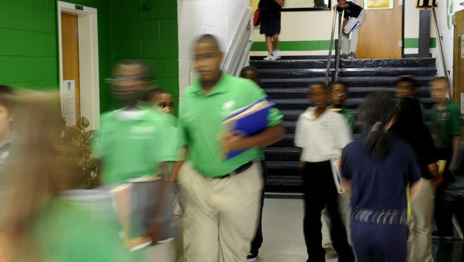 Students attend school at a LEAD Public Schools campus.