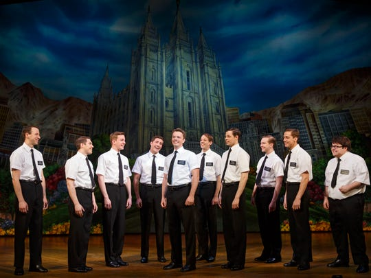 """A scene from the national tour of """"The Book of Mormon"""""""