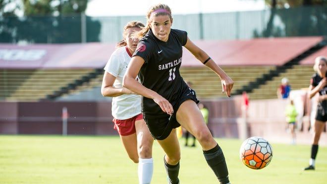 Former Fossil Ridge girls soccer player Grace Cutler now plays at Santa Clara.