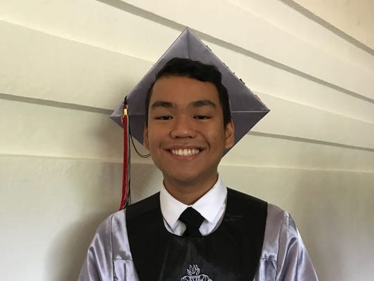 Simon Sanchez High School Class of 2018 valedictorian