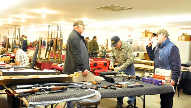 More than 900 people attended the Sandusky County Hawkeye Muzzleloaders Club gun show at the Sandusky County Fairgrounds in Fremont this past weekend.