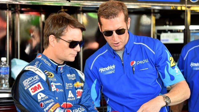 Crew chief Alan Gustafson (right) and Jeff Gordon are preparing for their biggest race together.