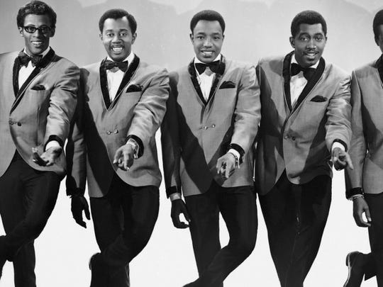 The original lineup of the Temptations.