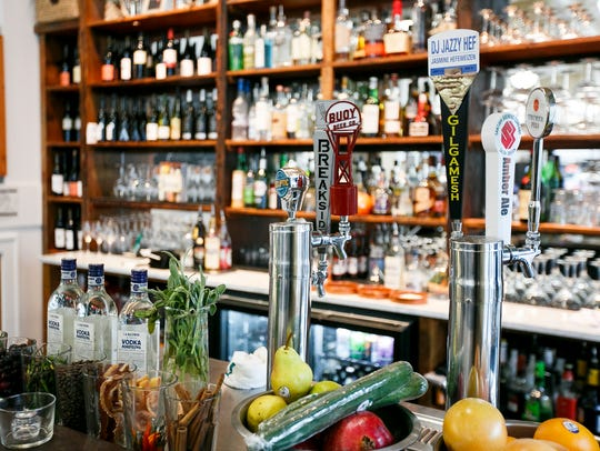 The bar at Ritter's Housemade Foods serves an expansive