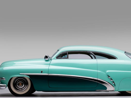 Profile view of the Hirohata Merc, the iconic 1951
