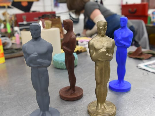 Four versions of an Oscar at Polich Tallix Fine Art