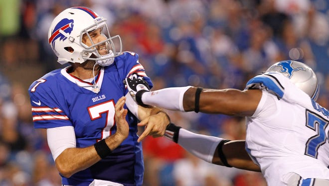QB Matt Leinart's Buffalo Bills career lasted all of one preseason game.