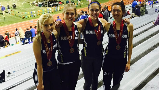 The Roberson girls 3,200-meter relay team.