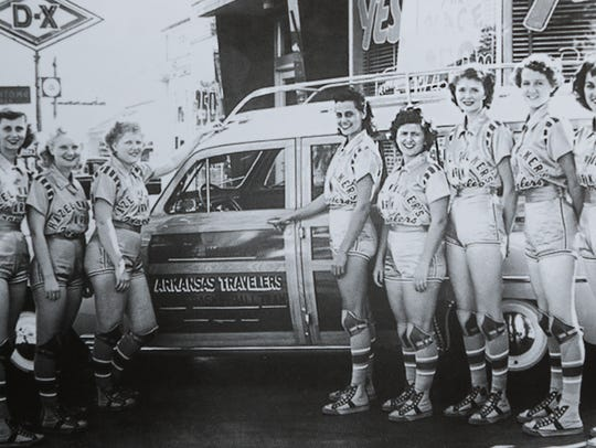 "Evelyn ""Eckie"" Jordan, second from middle right, with"